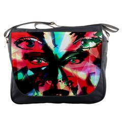 Abstract Girl Messenger Bags by Valentinaart