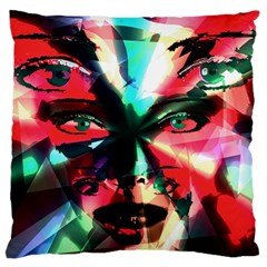 Abstract Girl Large Cushion Case (one Side) by Valentinaart