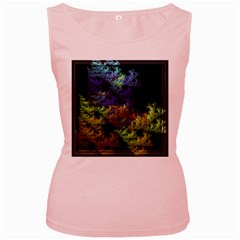 Fractal Forest Women s Pink Tank Top