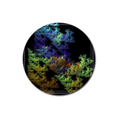 Fractal Forest Rubber Coaster (round)  by Simbadda