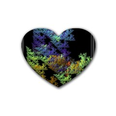 Fractal Forest Rubber Coaster (heart)  by Simbadda