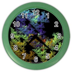 Fractal Forest Color Wall Clocks by Simbadda
