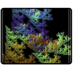 Fractal Forest Fleece Blanket (medium)  by Simbadda
