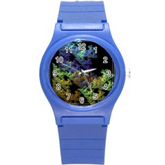 Fractal Forest Round Plastic Sport Watch (s) by Simbadda