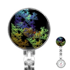 Fractal Forest Stainless Steel Nurses Watch by Simbadda