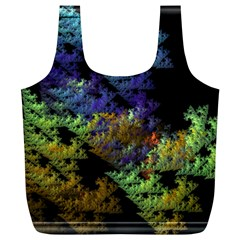 Fractal Forest Full Print Recycle Bags (l)  by Simbadda
