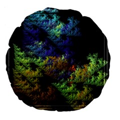 Fractal Forest Large 18  Premium Flano Round Cushions by Simbadda