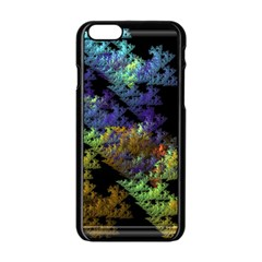 Fractal Forest Apple Iphone 6/6s Black Enamel Case