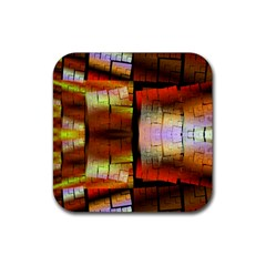 Fractal Tiles Rubber Coaster (square)