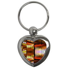 Fractal Tiles Key Chains (heart)  by Simbadda