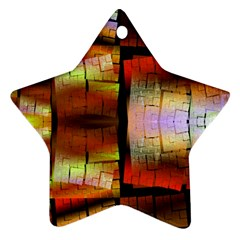 Fractal Tiles Star Ornament (two Sides) by Simbadda