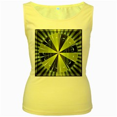 Fractal Ball Women s Yellow Tank Top