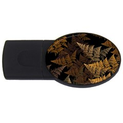 Fractal Fern Usb Flash Drive Oval (2 Gb) by Simbadda