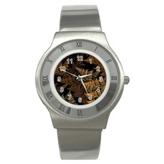 Fractal Fern Stainless Steel Watch by Simbadda