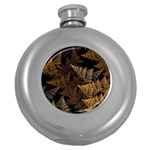Fractal Fern Round Hip Flask (5 oz) Front