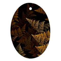 Fractal Fern Oval Ornament (two Sides) by Simbadda