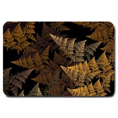 Fractal Fern Large Doormat  by Simbadda