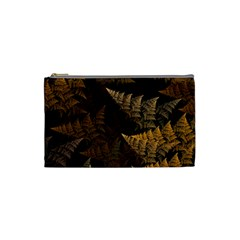 Fractal Fern Cosmetic Bag (small)  by Simbadda