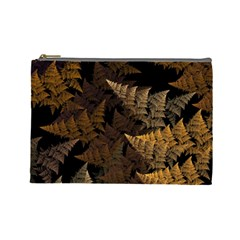 Fractal Fern Cosmetic Bag (large)  by Simbadda