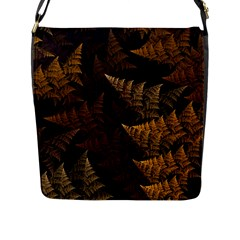Fractal Fern Flap Messenger Bag (l)