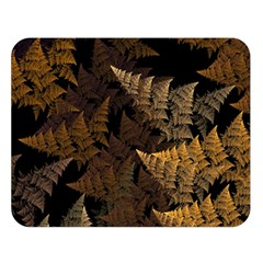 Fractal Fern Double Sided Flano Blanket (large)  by Simbadda