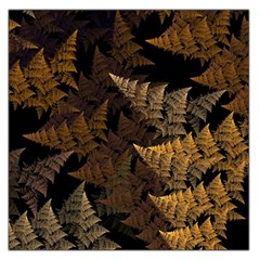 Fractal Fern Large Satin Scarf (square) by Simbadda