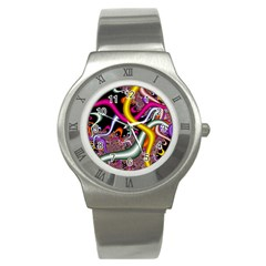 Fractal Roots Stainless Steel Watch by Simbadda