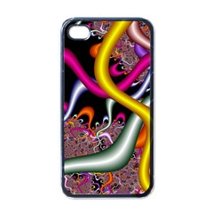 Fractal Roots Apple Iphone 4 Case (black) by Simbadda