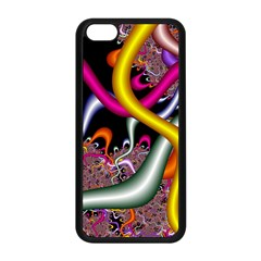 Fractal Roots Apple Iphone 5c Seamless Case (black) by Simbadda