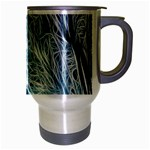 Fractal Forest Travel Mug (Silver Gray) Right