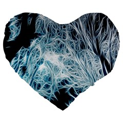 Fractal Forest Large 19  Premium Heart Shape Cushions by Simbadda