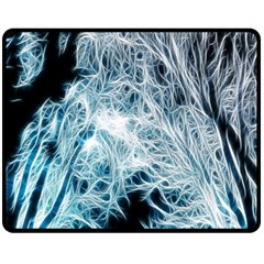 Fractal Forest Double Sided Fleece Blanket (medium)  by Simbadda