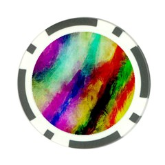 Abstract Colorful Paint Splats Poker Chip Card Guard by Simbadda