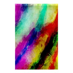 Abstract Colorful Paint Splats Shower Curtain 48  X 72  (small)  by Simbadda