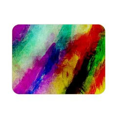 Abstract Colorful Paint Splats Double Sided Flano Blanket (mini)  by Simbadda