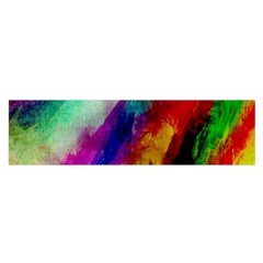 Abstract Colorful Paint Splats Satin Scarf (oblong)