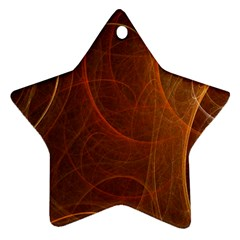 Fractal Color Lines Star Ornament (two Sides) by Simbadda