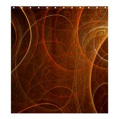 Fractal Color Lines Shower Curtain 66  X 72  (large)  by Simbadda