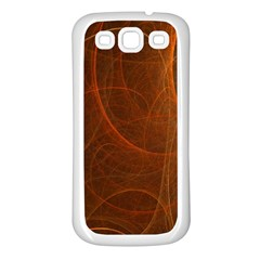 Fractal Color Lines Samsung Galaxy S3 Back Case (white) by Simbadda