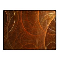 Fractal Color Lines Double Sided Fleece Blanket (small)  by Simbadda