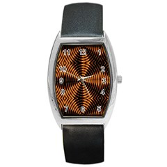 Fractal Patterns Barrel Style Metal Watch by Simbadda