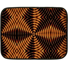 Fractal Patterns Double Sided Fleece Blanket (mini)