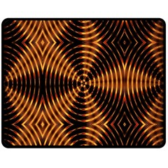 Fractal Patterns Double Sided Fleece Blanket (medium)  by Simbadda
