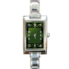Celtic Corners Rectangle Italian Charm Watch by Simbadda