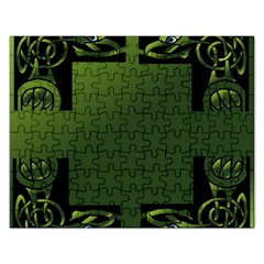 Celtic Corners Rectangular Jigsaw Puzzl by Simbadda