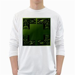 Celtic Corners White Long Sleeve T Shirts by Simbadda