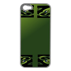 Celtic Corners Apple Iphone 5 Case (silver) by Simbadda