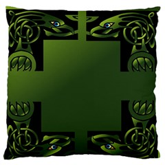 Celtic Corners Large Flano Cushion Case (two Sides) by Simbadda