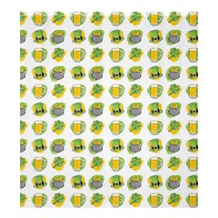 St Patrick s Day Background Symbols Shower Curtain 66  X 72  (large)  by Simbadda