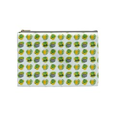 St Patrick s Day Background Symbols Cosmetic Bag (medium)